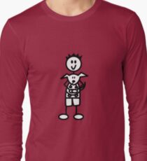 The boy with the spiky hair - red Long Sleeve T-Shirt