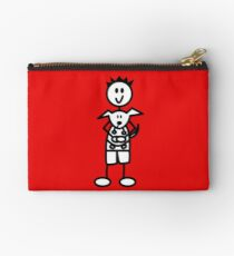 The boy with the spiky hair - red Studio Pouch