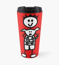 The boy with the spiky hair - red Travel Mug