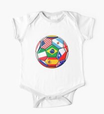 Brazil 2014 - soccer with various flags Kids Clothes