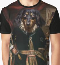 Andy the Long haired Daschund Graphic T-Shirt