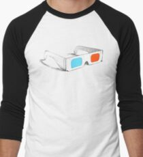 Retro 3D Glasses Men's Baseball ¾ T-Shirt