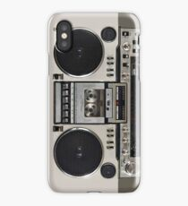Vintage 80s Boombox Ghettoblaster iPhone X Case