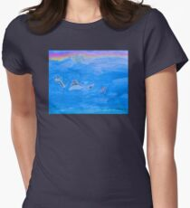 The Cat On The Dinosaur Women's Fitted T-Shirt