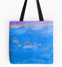 The Cat On The Dinosaur Tote Bag