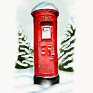 Snowy Pillar Box by Rasendyll