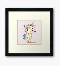 Crazy Unicorn - Wild Happiness Framed Print