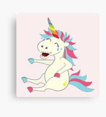 Crazy Unicorn - Hilarious Edition Canvas Print