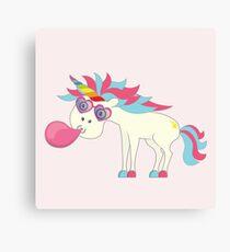 Crazy Unicorn - Blowing Bubbles Canvas Print