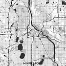 Minneapolis Karte grau von HubertRoguski