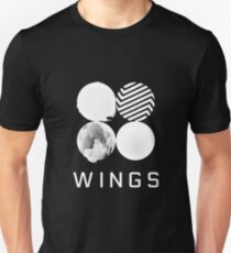 BTS Wings Logo (Black) Unisex T-Shirt