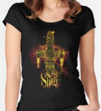 shiny spaceship Fitted Scoop T-Shirt