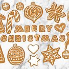 Merry Christmas - gingerbread card by Vicky Webb
