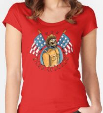 Teddy Roosevelt Tattoo Flash Women's Fitted Scoop T-Shirt