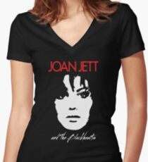 Joan Jett Women's Fitted V-Neck T-Shirt