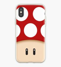 Vinilo o funda para iPhone Red Super Mushroom