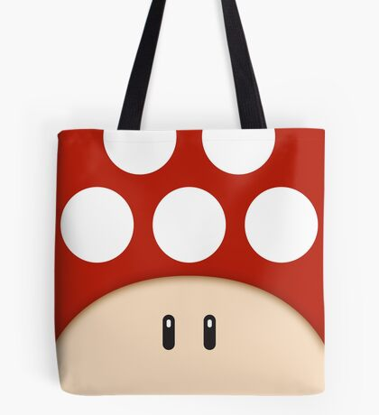 Red Super Mushroom Tote Bag