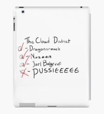 Do you get to the cloud district very often? iPad Case/Skin