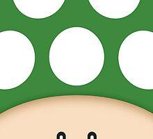 Green 1UP Mushroom by mechantefille