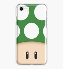 Green 1UP Mushroom iPhone Case/Skin