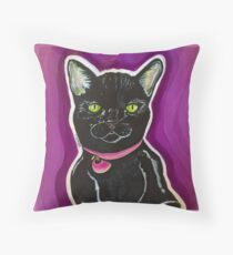 Nia the Cat Throw Pillow