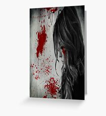 Horror Poster Greeting Card