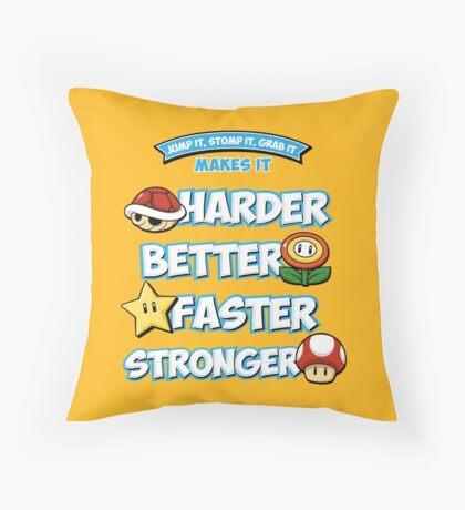 Daft Plumber Throw Pillow