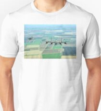 Escorted Lancaster over the Lincolnshire Fens Unisex T-Shirt