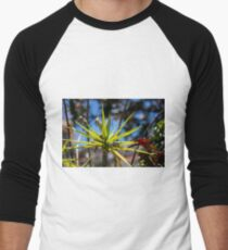 Spike Plant - Nature Photography  Men's Baseball ¾ T-Shirt