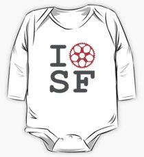 I Bike SF - San Francisco Bicyclist One Piece - Long Sleeve