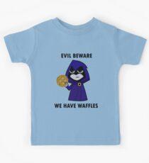Evil Beware: We Have Waffles Kids Tee