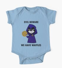 Evil Beware: We Have Waffles One Piece - Short Sleeve