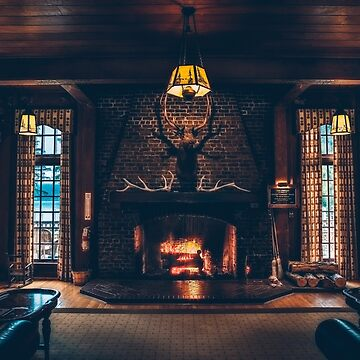 Fireplace at Quinault Lodge, WA by markbot