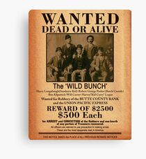 The Wild Bunch Wanted Poster Canvas Print
