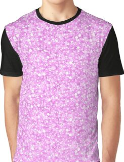 Pastel pink glitter and sparkles print pattern Graphic T-Shirt