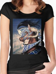 Yuellas the Bulvaen Horse Women's Fitted Scoop T-Shirt