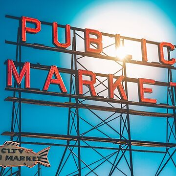 Pike Place Market sign by markbot
