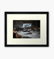 End of Fall waterfall photograph Framed Print