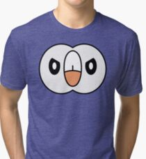 Angry Rowlet Tri-blend T-Shirt
