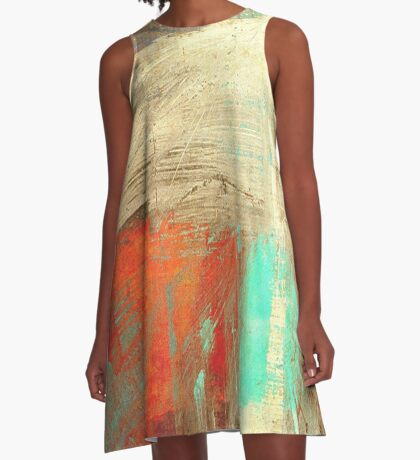 Old man and the Mountain A-Line Dress