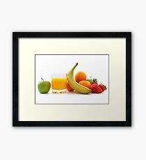 Fruit and Orange Juice Framed Print