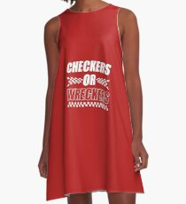 Checkers Or Wreckers A-Line Dress