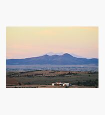 Sunset And Mountains Photographic Print