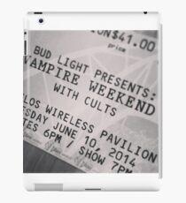 Vampire Weekend ticket iPad Case/Skin