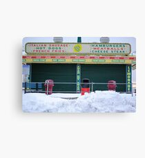 Seaside Heights snow covered Midway Steak House Canvas Print