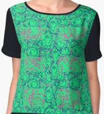 Cool modern swirls pink blue green pattern Chiffon Top