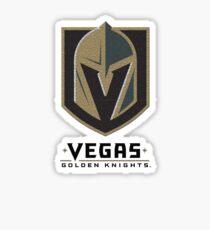 A Golden Vegas Sports Shirt Knight Emblem Distressed Look Tshirt Sticker