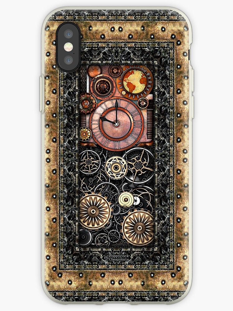 Infernal Steampunk Timepiece #2B Vintage Steampunk phone cases by Steve Crompton
