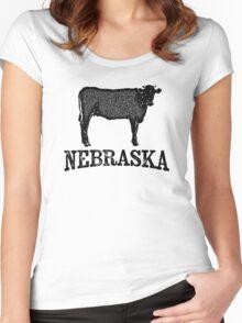 Nebraska T-shirt - Bull Cow Women's Fitted Scoop T-Shirt