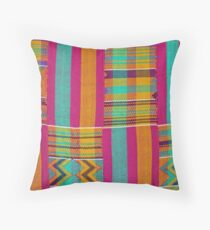 Colours of Africa (22) of a series of African Colours, KENTE of the Ashanti and Ewe in Ghana Throw Pillow
